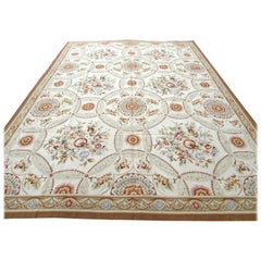 Handmade Vintage French Aubusson Rug, 1970s, 1Q0196