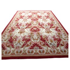 Handmade Vintage French Aubusson Rug, 1970s, 1Q0204