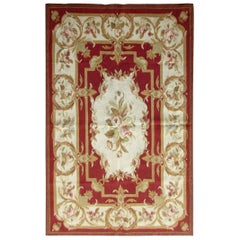 Handmade Vintage French Aubusson Rug, 1970s, 1Q0271