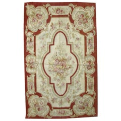 Handmade Vintage French Aubusson Rug, 1970s, 1Q0272