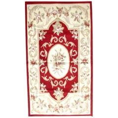 Handmade Vintage French Aubusson Rug, 1980s, 1Q0331