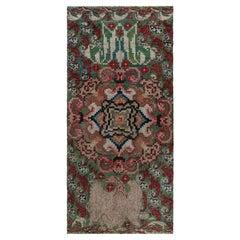 Handmade Vintage French Botanic Design Carpet