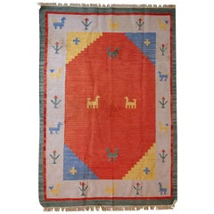 Handmade Vintage Gabbeh Style Kilim, 1960s, 1C518