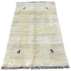 Handmade Vintage Gabbeh Style Rug, 1970s, 1Q0018