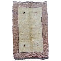 Handmade Vintage Gabbeh Style Rug, 1970s, 1Q0061