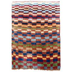 Handmade Vintage Gabbeh Style Rug, 1970s, 1Q0133