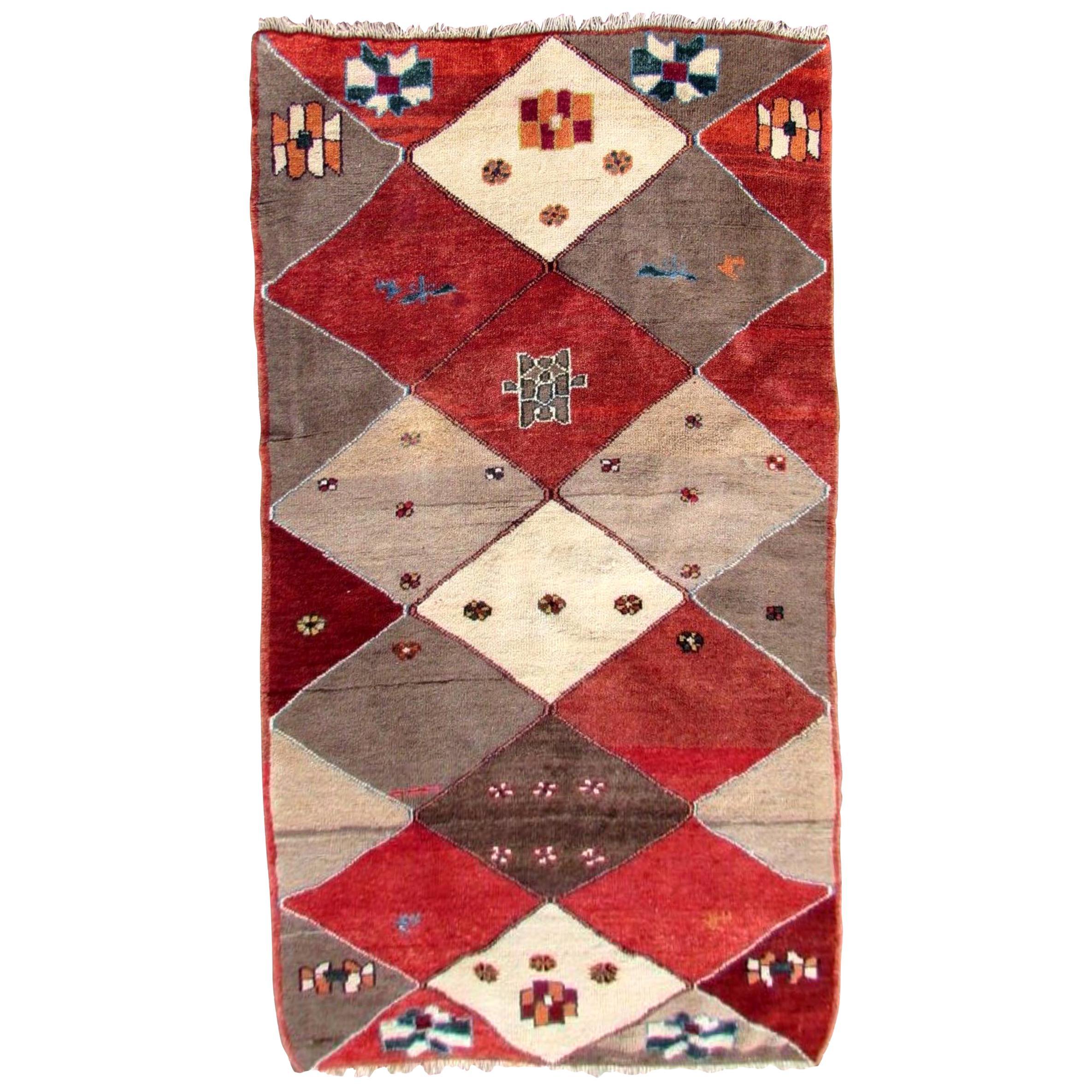 Handmade Vintage Gabbeh Style Rug, 1970s, 1Q0197