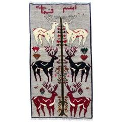 Handmade Vintage Gabbeh Style Rug, 1970s, 1Q0234
