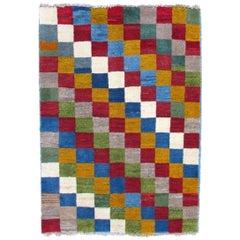 Handmade Vintage Gabbeh Style Rug, 1970s, 1Q0243
