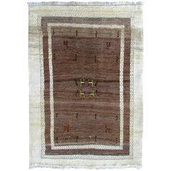 Handmade Vintage Gabbeh Style Rug, 1970s, 1Q0255
