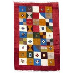 Handmade Vintage Gabbeh Style Rug, 1970s, 1Q0257