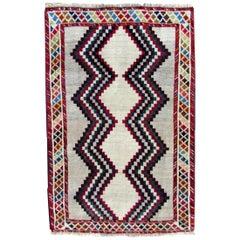 Handmade Vintage Gabbeh Style Rug, 1970s, 1Q0261