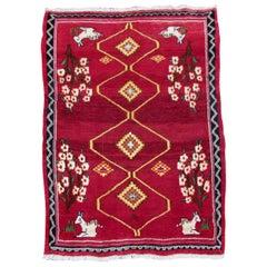 Handmade Vintage Gabbeh Style Rug, 1980s, 1Q0069