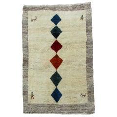 Handmade Vintage Gabbeh Style Rug, 1980s, 1Q0094