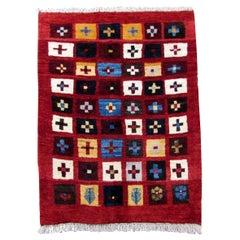 Handmade Vintage Gabbeh Style Rug, 1980s, 1Q0105