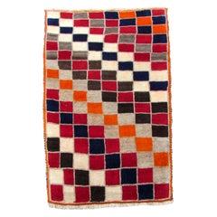 Handmade Vintage Gabbeh Style Rug, 1980s, 1Q0107