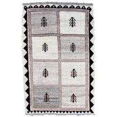 Handmade Vintage Gabbeh Style Rug, 1980s, 1Q0273