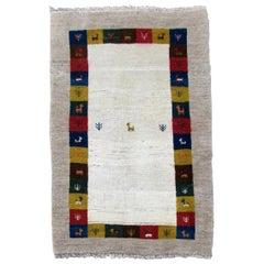 Handmade Vintage Gabbeh Style Rug, 1980s, 1Q0276