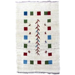 Handmade Vintage Gabbeh Style Rug, 1980s, 1Q0290