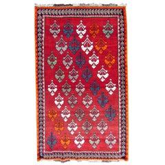 Handmade Vintage Gabbeh Style Rug, 1980s, 1Q0292