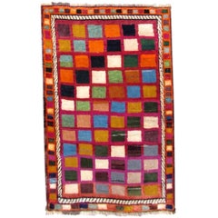 Handmade Vintage Gabbeh Style Rug, 1980s, 1Q0295