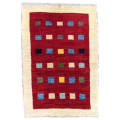 Handmade Vintage Gabbeh Style Rug, 1980s, 1Q0311