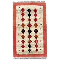 Handmade Vintage Gabbeh Style Rug, 1980s, 1Q0346
