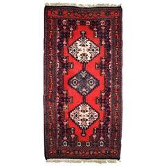 Handmade Vintage Hamadan Style Rug, 1970s, 1C640