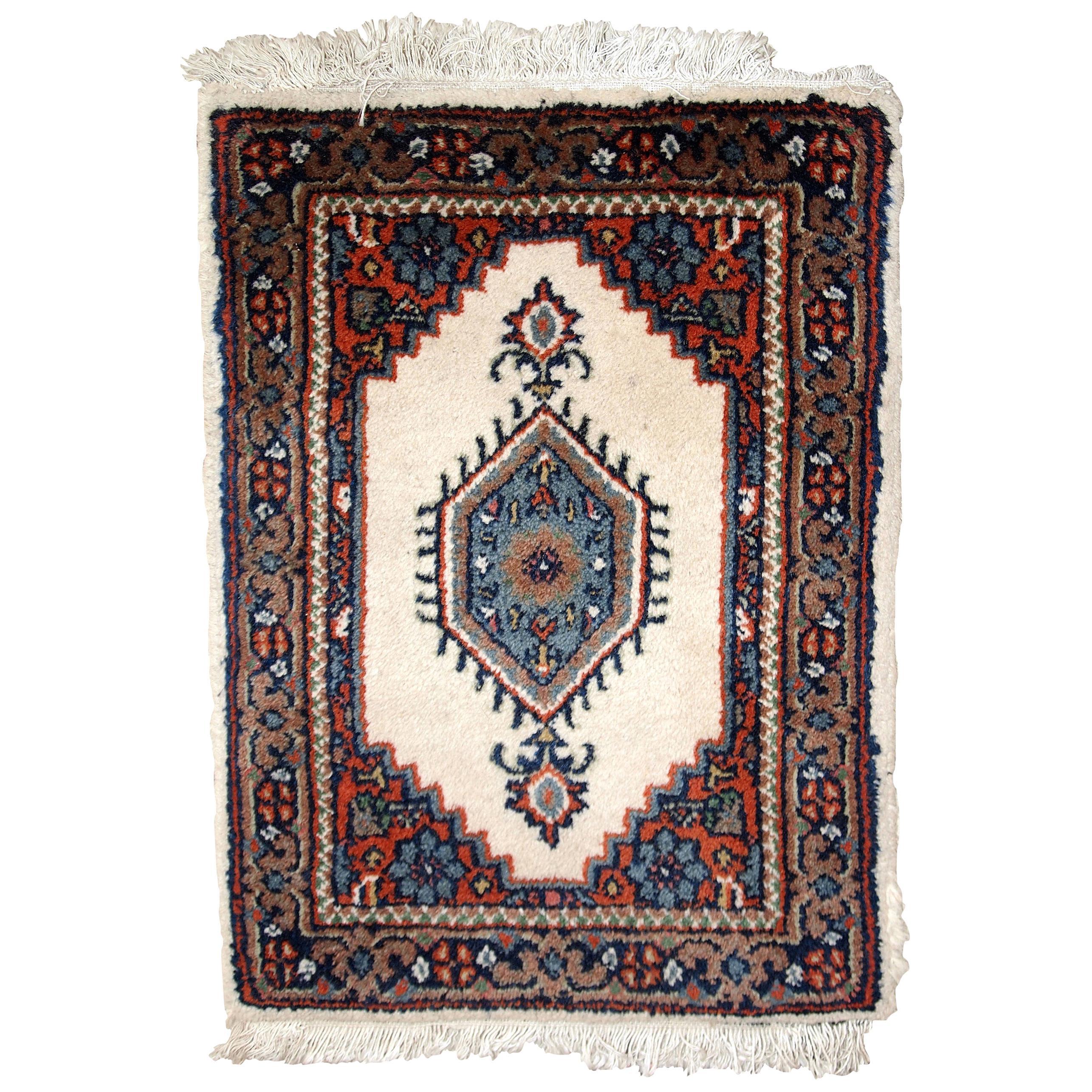 Handmade Vintage Hamadan Style Rug, 1970s, 1C652