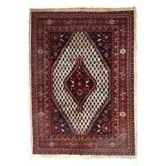 Handmade Vintage Hamadan Style Rug, 1970s, 1C695