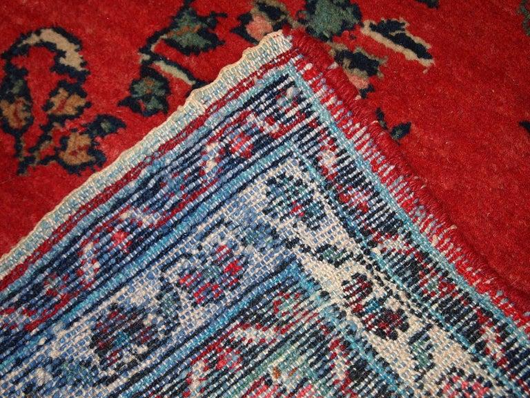 Handmade Vintage Hamadan Style Runner, 1960s, 1C616 For Sale 3