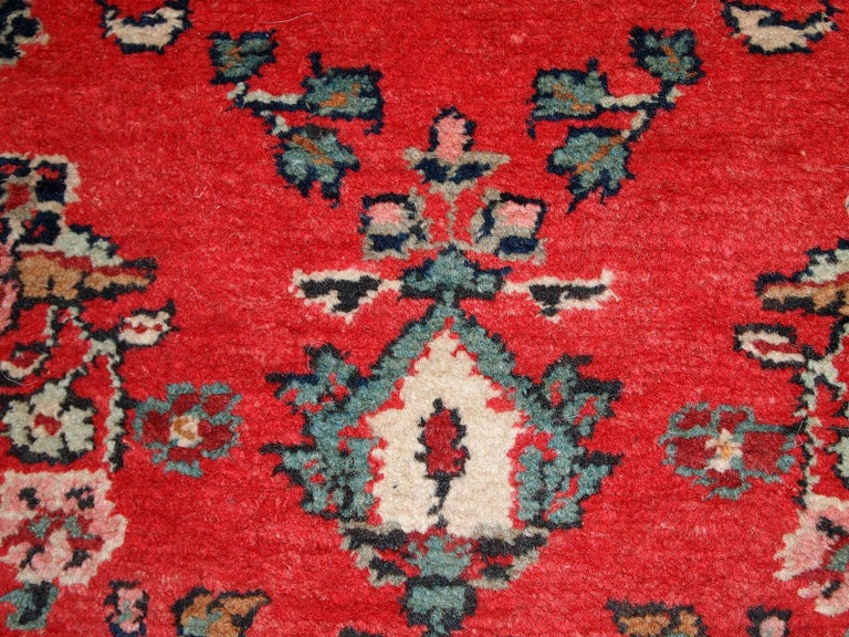 Handmade Vintage Hamadan Style Runner, 1960s, 1C616 In Good Condition For Sale In Bordeaux, FR