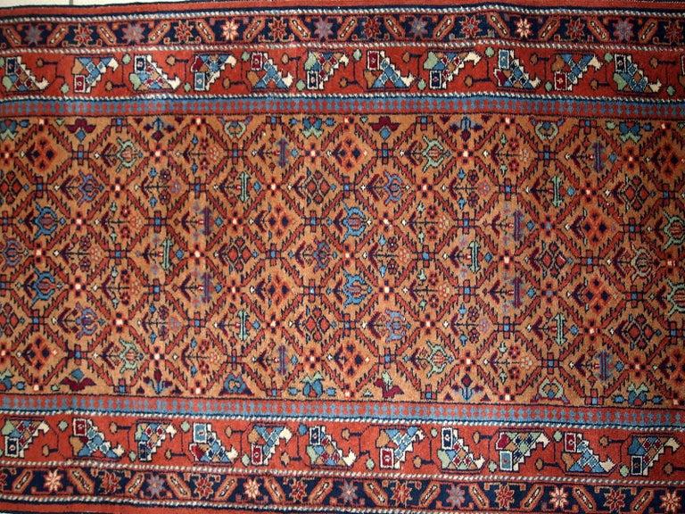 Wool Handmade Vintage Hamadan Style Runner, 1960s, 1C663 For Sale