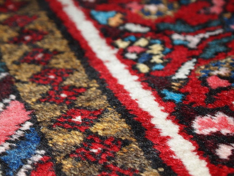 Handmade Vintage Hamadan Style Runner, 1970s, 1C303 In Good Condition For Sale In Bordeaux, FR
