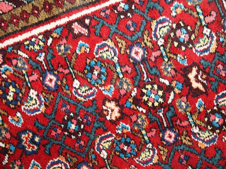 Wool Handmade Vintage Hamadan Style Runner, 1970s, 1C303 For Sale