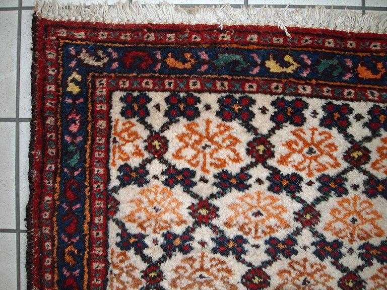 Handmade Vintage Hamadan Style Runner, 1960s, 1C378 For Sale 5