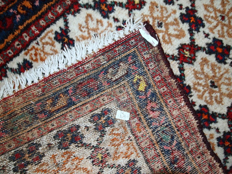 Hand-Knotted Handmade Vintage Hamadan Style Runner, 1960s, 1C378 For Sale