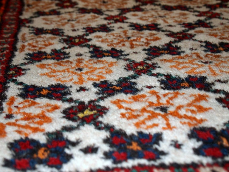 Mid-20th Century Handmade Vintage Hamadan Style Runner, 1960s, 1C378 For Sale