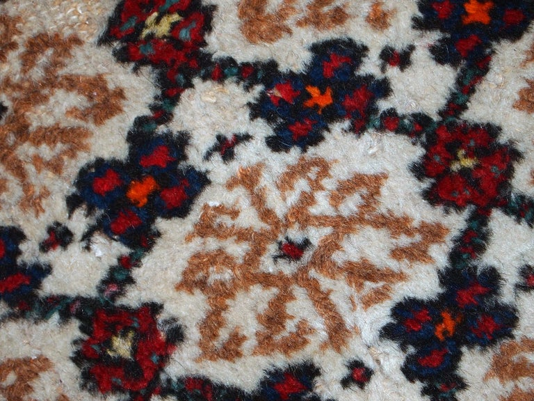 Wool Handmade Vintage Hamadan Style Runner, 1960s, 1C378 For Sale