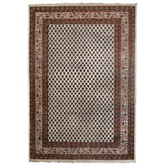 Handmade Vintage Indian Seraband Rug, 1980s, 1C623