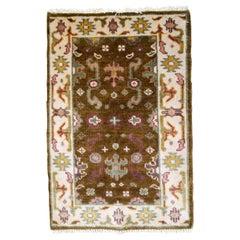 Handmade Vintage Indo-Mahal Rug, 1980s, 1B860