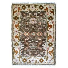Handmade Vintage Indo-Mahal Rug, 1980s, 1B865