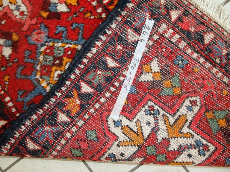 Handmade Vintage Karajeh Style Runner, 1960s, 1C686 In Good Condition For Sale In Bordeaux, FR