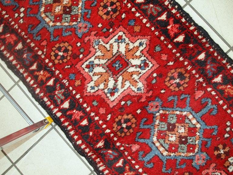 Wool Handmade Vintage Karajeh Style Runner, 1960s, 1C686 For Sale