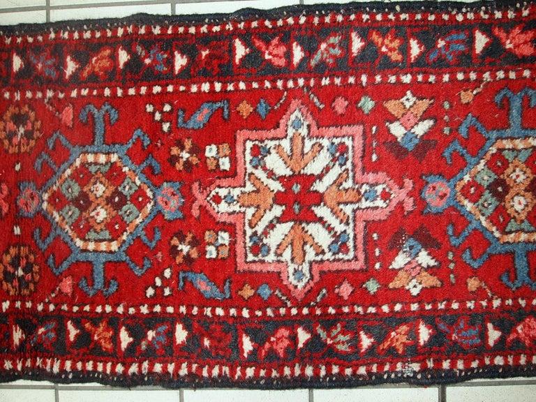 Handmade Vintage Karajeh Style Runner, 1960s, 1C686 For Sale 1