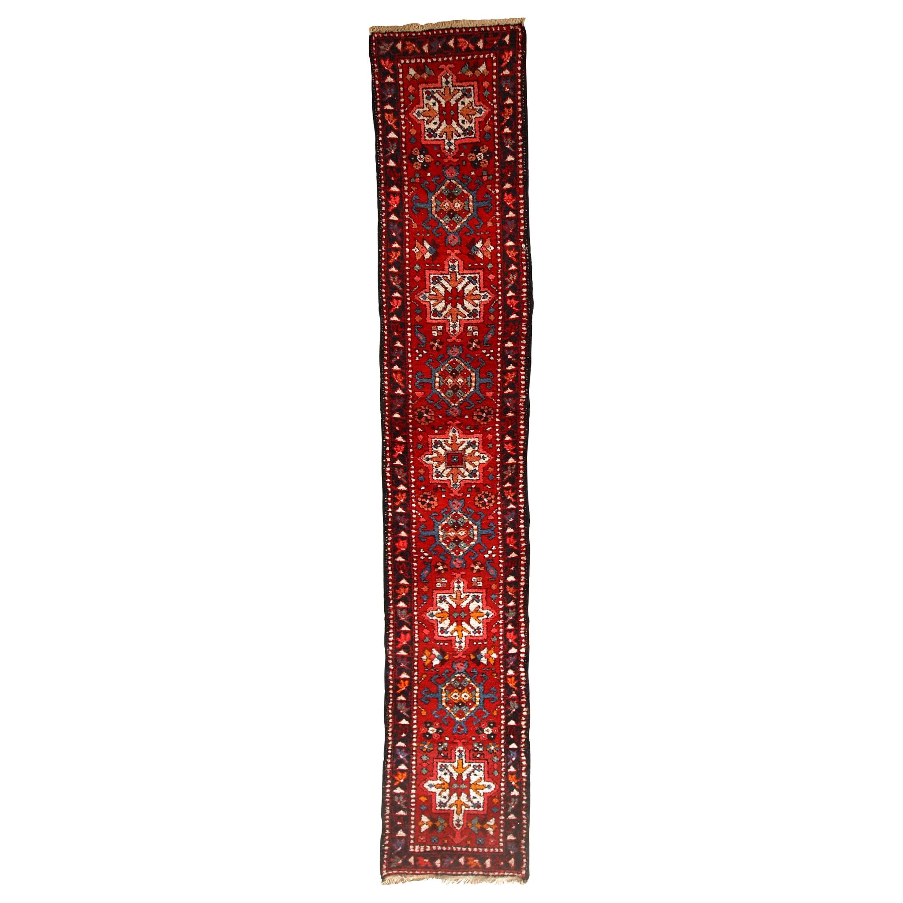 Handmade Vintage Karajeh Style Runner, 1960s, 1C686