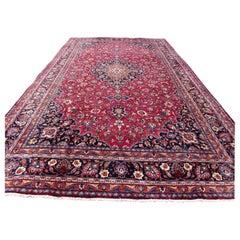 Handmade Vintage Kashan Style Rug, 1970s, 1Q0188