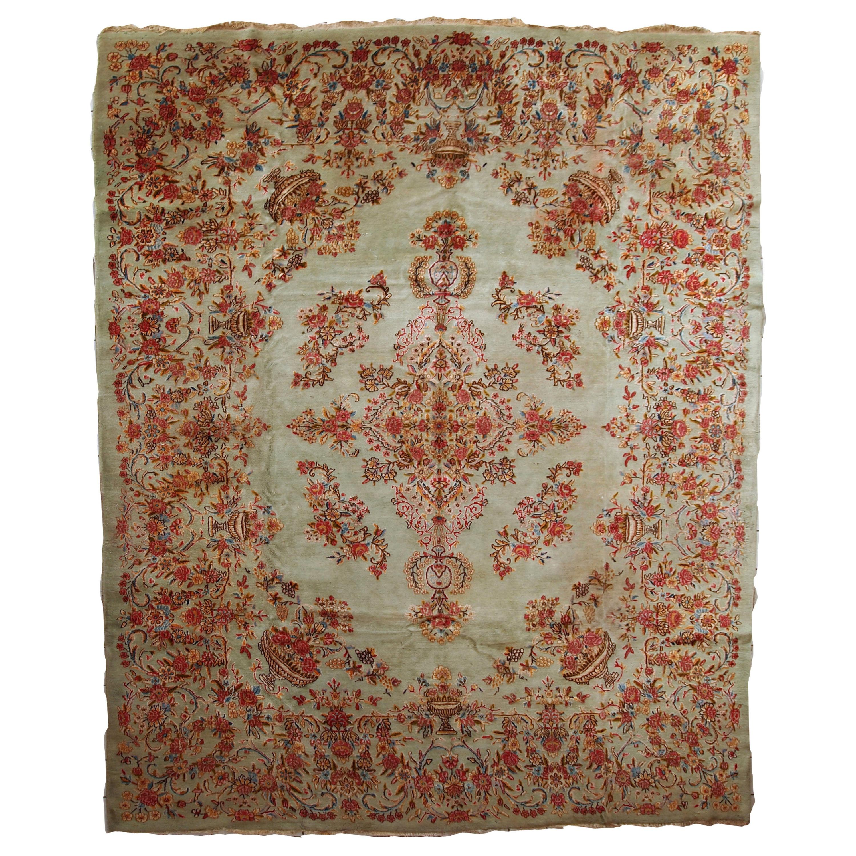 Handmade Vintage Kerman Style Rug, 1960s, 1C698