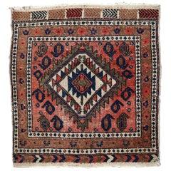 Handmade Vintage Kurdish Style Rug, 1930s, 1C654