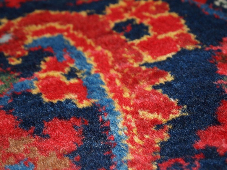 Handmade Vintage Malayer Style Runner, 1920s, 1C323 For Sale 4